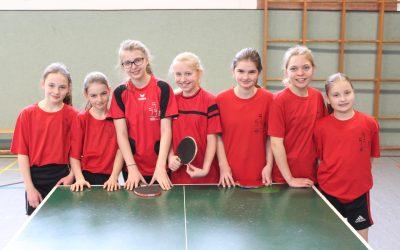 GSS-Tischtennis-Mädels Sieger beim Landesentscheid JTFO