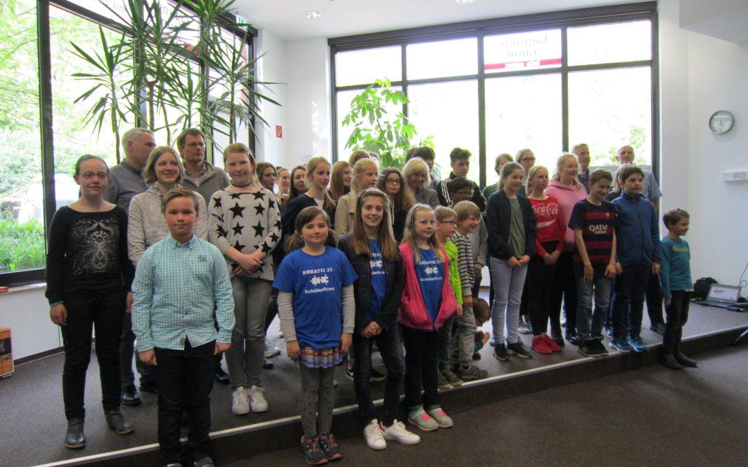 """Plätze 2 und 3 beim Osnabrücker """"Klimastadt""""-Wettbewerb für UNESCO-Kurs der Gesamtschule Schinkel"""