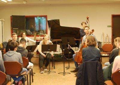 Das NOTOS Quartett und sein musikalischer Gast in der Gesamtschule